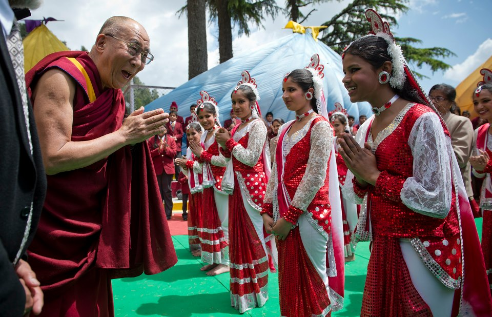 Image of His Holiness the Dalai Lama's two day visit to Dalhousie, HP, India on April 27-28, 2013.