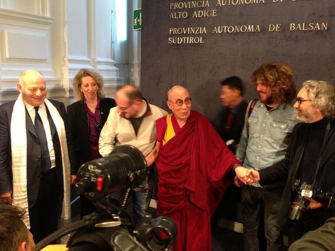Il Dalai Lama a Palazzo Widmann