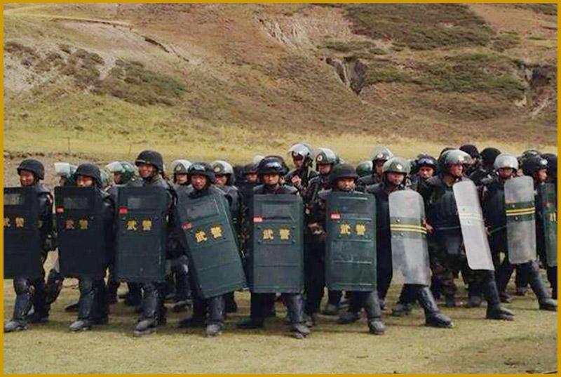 La polizia cinese a Driru