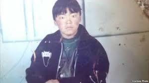 Kunchok Tseten, il nomade tibetano di trent'anni, morto durante il trasporto a Barkham, che ha dato la sua vita per la libertà del Tibet