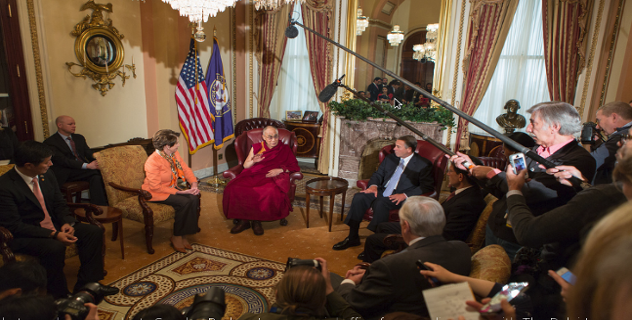 His Holiness the Dalai Lama in Capitol