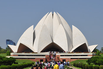 The Lotus Temple, venue for His Holiness the Dalai Lama's talk in New Delhi, India on January 16, 2015.