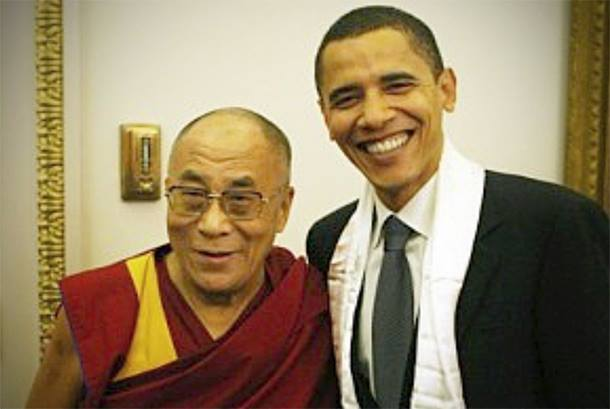 H.H. the Dalai Lama-Obama's first public appearance