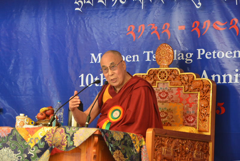"His Holiness the Dalai Lama: ""The Tibetan language has been the lifeline in sustaining the essence of Tibetan culture and tradition over the years""."