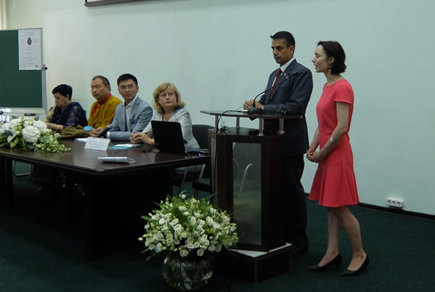 "The international seminar, ""Buddhist Education, Ethics and Art""."