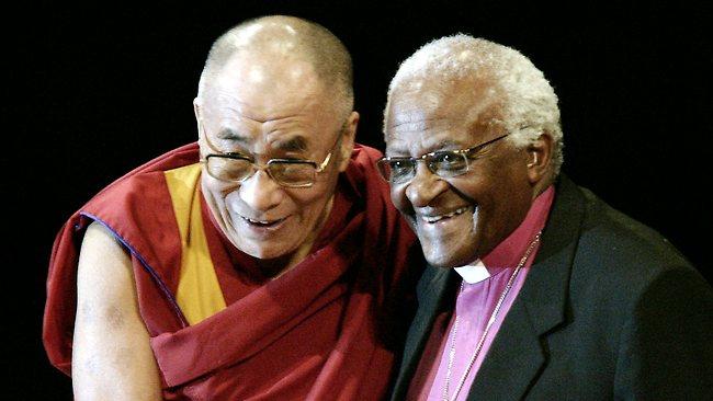 Nobel Peace Laureates His Holiness the Dalai Lama and Archbishop Desmond Tutu