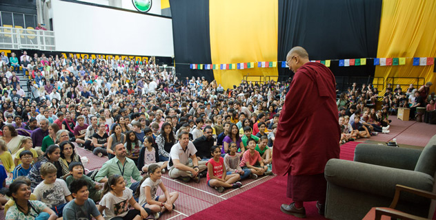 His Holiness the Dalai Lama speaks at the American Embassy School