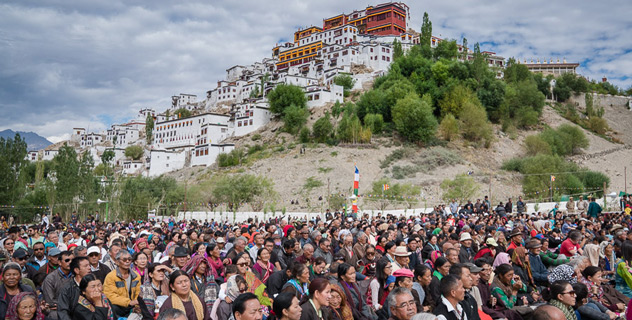 Images of His Holiness the Dalai Lama at the opening session of the Fourth Great Summer Religious Council at Thiksey Monastery in Ladakh, J&K, India on August 9, 2016.