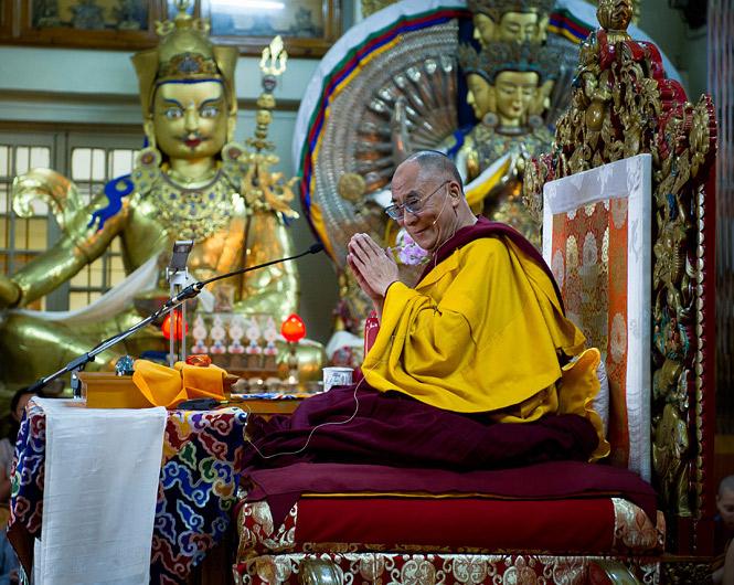 """Sua Santità il Dalai Lama: """"Il Tibet appartiene di diritto ai tibetani e i tibetani devono essere fieri della loro peculiare cultura, lingua e tradizione""""."""