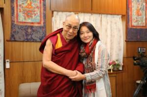His Holiness the Dalai Lama and Rui Gong