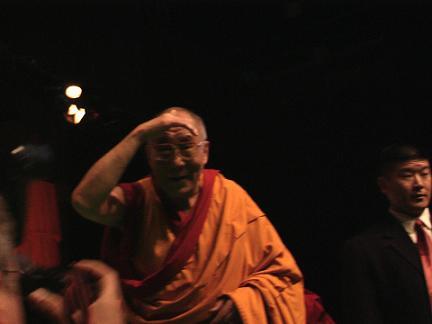 arrivo del Dalai Lama, pomeriggio