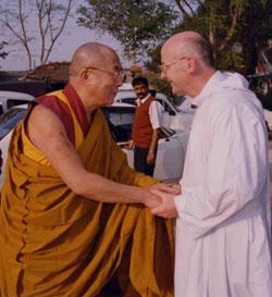 Sua Santità il Dalai Lama e Dom Laurence Freeman