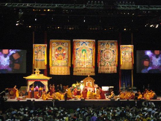 """Sua Santità il Dalai Lama Kalachakra Washington DC: """"Dobbiamo pensare alla gentilezza degli altri esseri senzienti""""."""