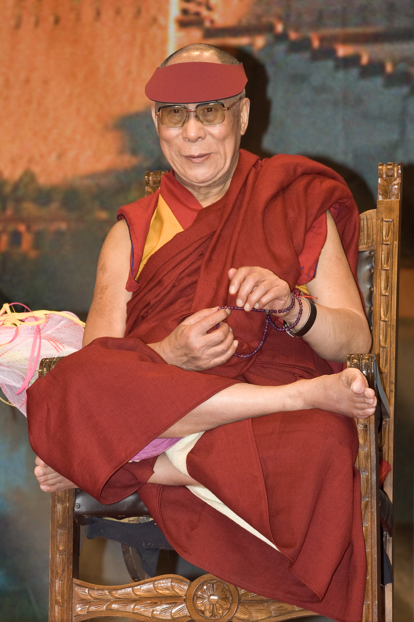 His Holiness the XIV Dalai Lama: Milarepa's story testifies to the fact that it is through hardship and constant practice that eventually leads to realization, not through a simple blessing or being touched on the head by another's palm.