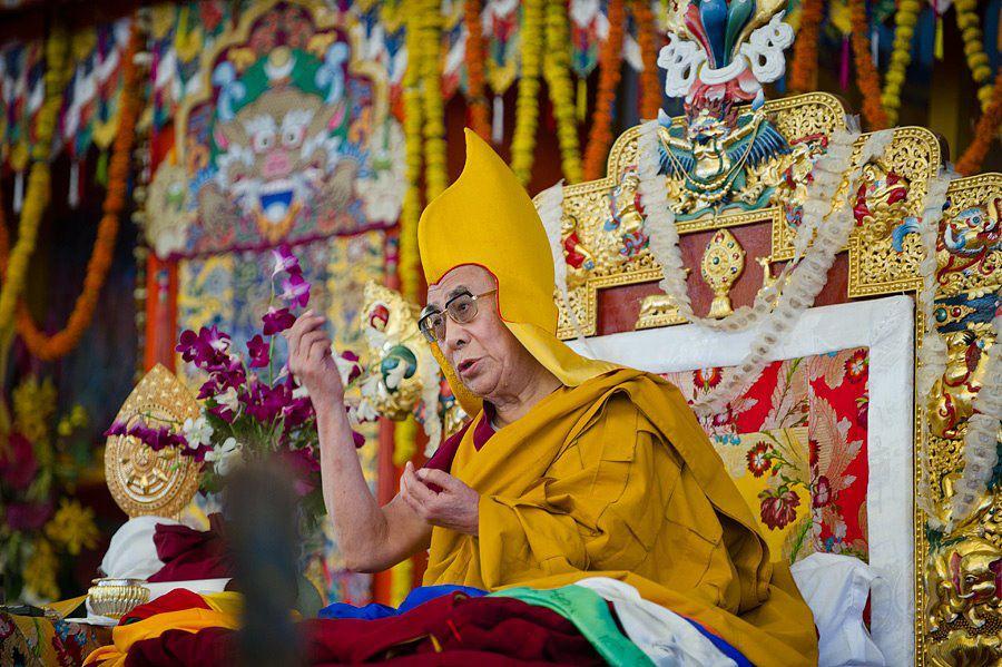 Sua Santità il Dalai Lama: Nel Sutra del Diamante si dice che la Bodhicitta è il desiderio di ottenere l'illuminazione per il beneficio di tutti gli esseri senzienti, che quindi ha la capacità di eliminare i difetti mentali e di aiutare gli altri ad eliminare la sofferenza e le sue cause.