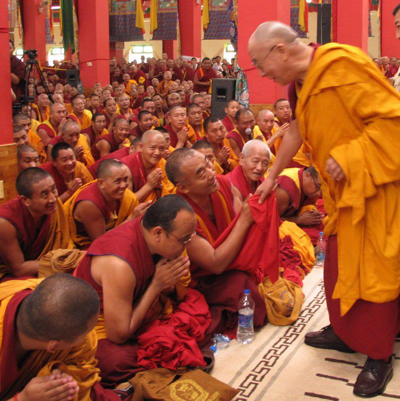 "His Holiness the Dalai Lama: ""Things have to arise from their causes and conditions. So a rice seedling has to arise from a rice seed. ""."