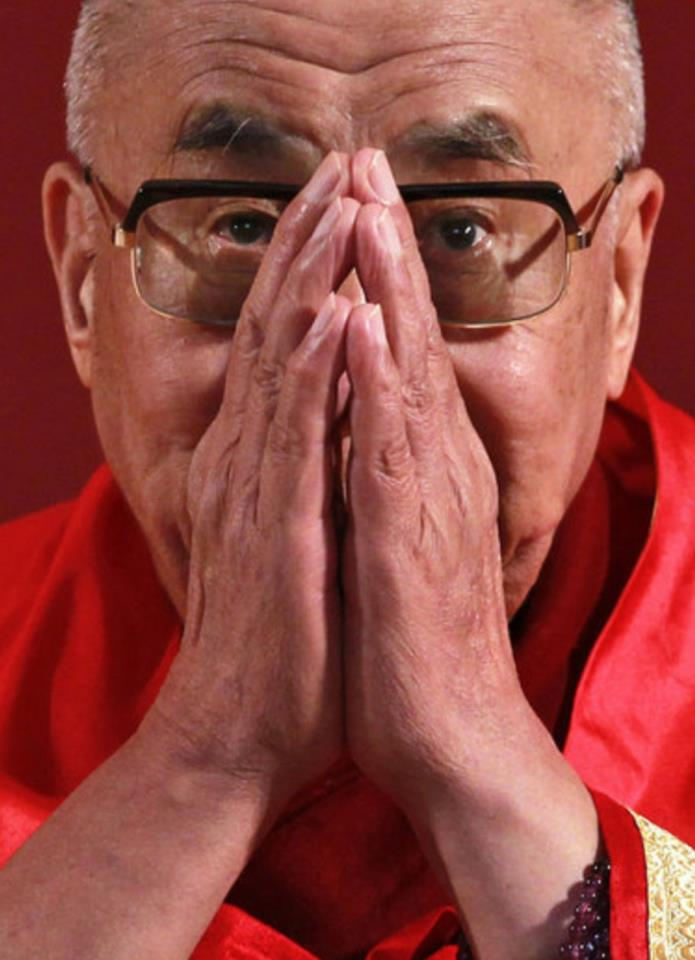 "His Holiness the Dalai Lama: ""Death is certain. The time of death is uncertain. Only our practice will help us at the time of death""."