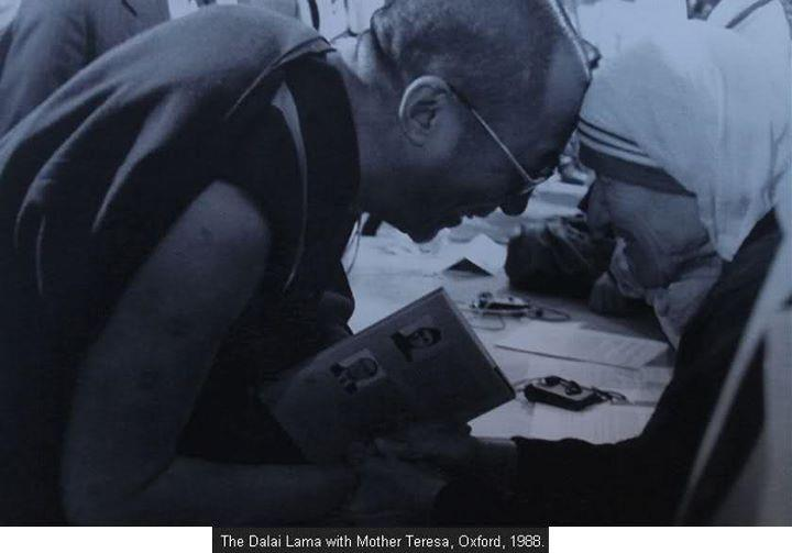 His Holiness the Dalai Lama with Mother Teresa from Kulkata