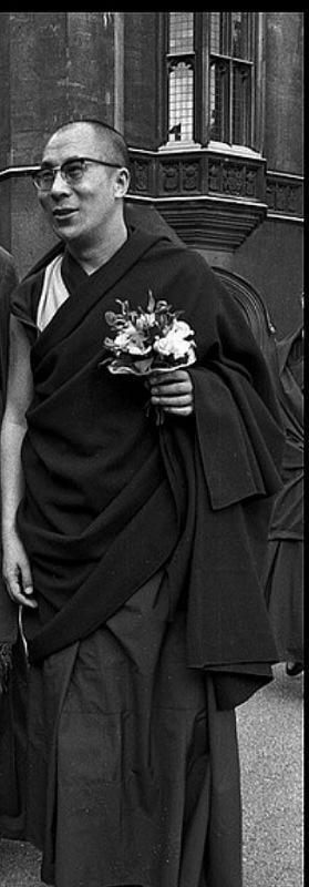 """Sua Santità il 14° Dalai Lama: Come dice il Bodhicaryavatara, """"Come la terra, l'acqua, l'aria, il fuoco e lo spazio, possaio essere sempre un supporto vivente per gli infiniti esseri senzienti."""""""