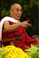 His Holiness the Dalai Lama: the Buddha's body came into being from myriads of causes.