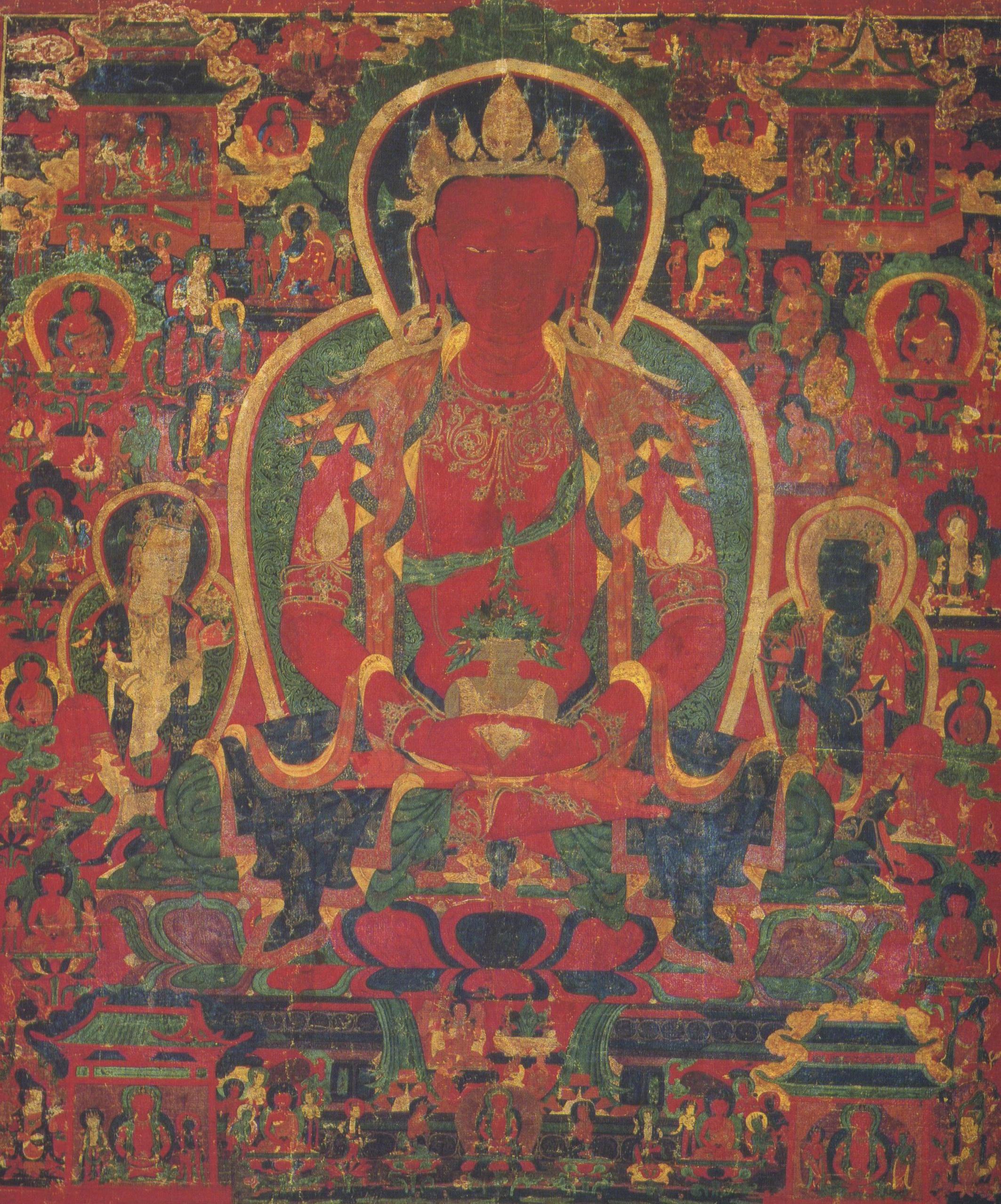 Lama Tzong Khapa: Qualunque fonte di virtù abbia conseguito nel corso di tutte le mie vite, tramite azioni fisiche, verbali e mentali, possa tutto ciò servire unicamente come causa di bene altruistico e di pura illuminazione.