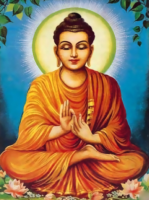 """Buddha Sakyamuni, Muni Sutta: """"Equanime, avendo troncato le sue catene, libero dagli influssi impuri: gli illuminati lo chiamano saggio""""."""