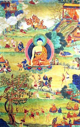 """Bodhisattva: """"Possano i saggi venire su quest'isola, essere miei ospiti e parlare con me. Il saggio cammina sulla strada della virtù e conduce gli altri su quella stessa strada. Ha buona educazione e ascolta ciò che è detto per il suo bene; per questo sono amico del saggio."""""""