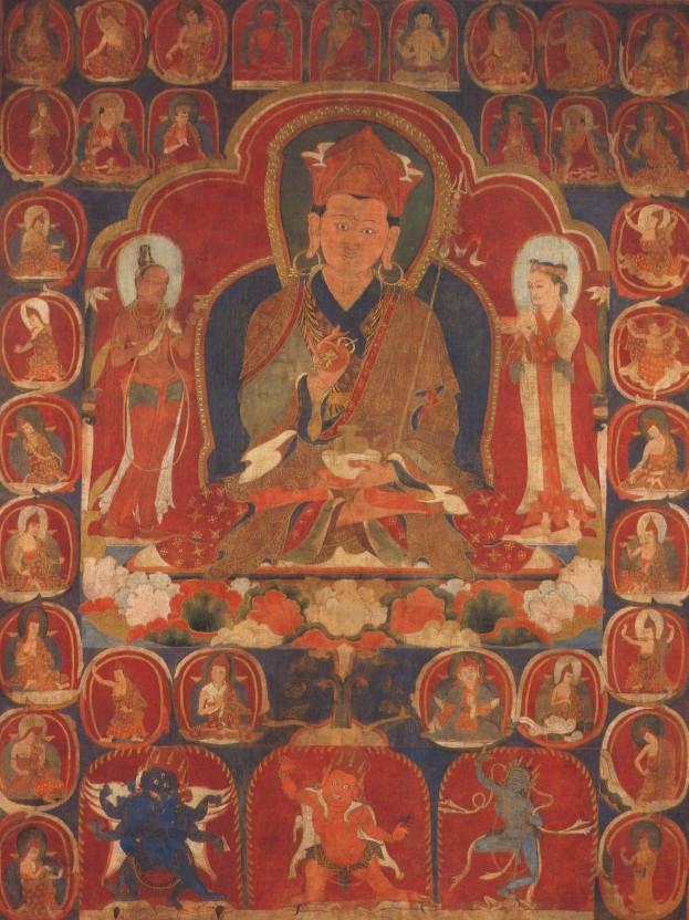 Padmasambhava, raffigurazione del 14° sec.
