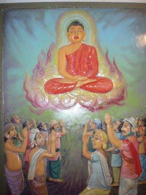 """Il Buddha rispose: """"L'Intelligenza Trascendente è lo stato dell'auto-realizzazione interiore della Nobile Saggezza. Essa è realizzata intuitivamente all'improvviso appena avviene la """"rivoluzione"""" nel luogo più profondo della coscienza; essa non è qualcosa che entra dentro o esce fuori – è come la luna vista nell'acqua""""."""