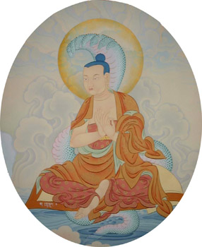 """Acarya Nagarjuna: """"Ricorda che Guadagno e Perdita, Benessere e Miseria, Buona e Cattiva Reputazione, Lode e Biasimo, Sono i terribili Otto Dharma Mondani""""."""