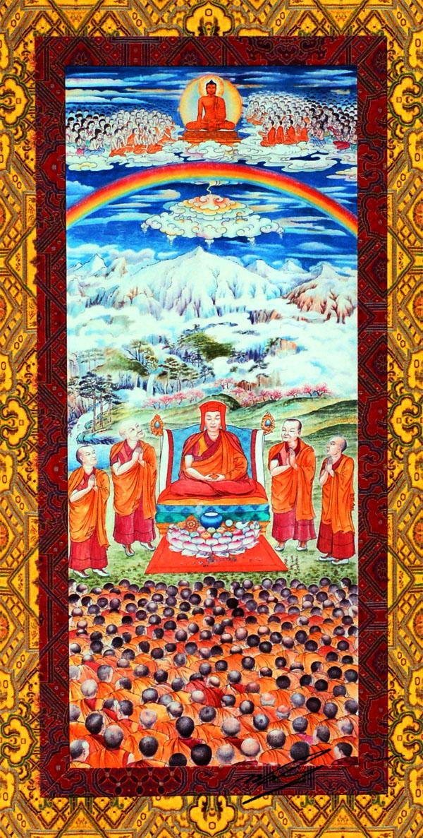 Il grande Maestro della Mahamudra Gampopa