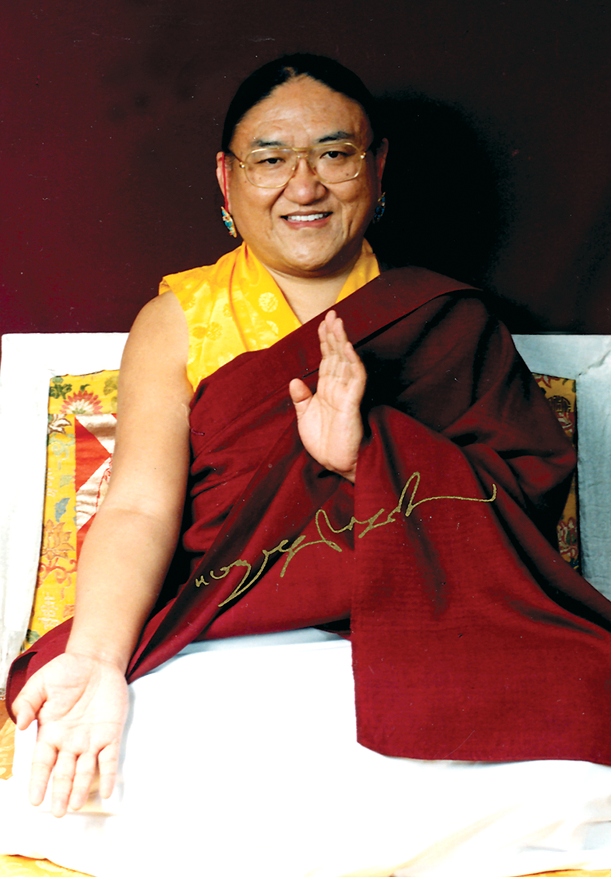 "His Holiness Sakya Trizin: ""We all possess the seed of the Buddha - the true nature of our mind is pure right from the beginning. All sentient beings have this seed""."