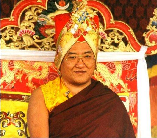 "His Holiness Sakya Trizin: ""The guide is the Buddha, and the Dharma is the path you need to follow to reach the destination.""."