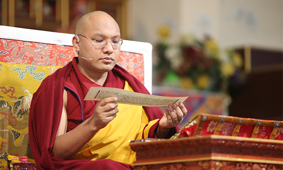 The Gyalwang Karmapa: Rousing bodhichitta comes from training the mind.