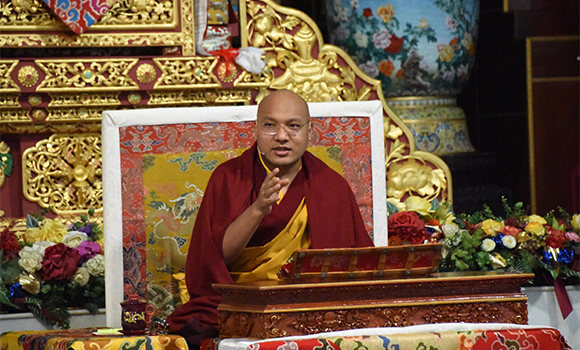 "H.H. Gyalwang Karmapa: ""Why it is necessary to become a perfectly enlightened Buddha to benefit others""."