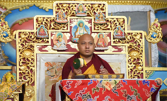 The Gyalwang Karmapa: The particular benefit of this sadhana is that it brings a long and stable life to those who hold the teachings and for others it vanquishes fear, and continued engaging in virtuous actions keeps fear away.