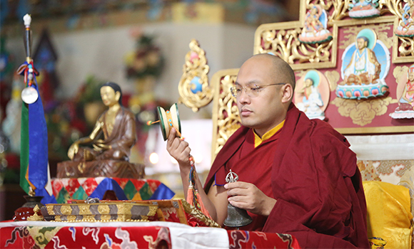 His Holiness the Karmapa: the Seven-Branch Prayer epitomizes all the practices of gathering the accumulations as well as purifying misdeeds and obscurations.