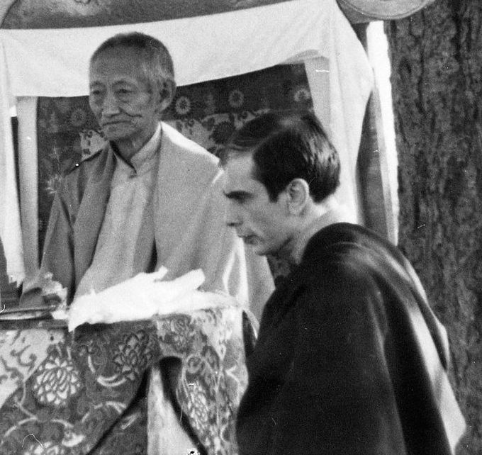 Vajradhara Kalu Rinpoche e Lama Denys Rinpocè 1976