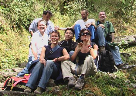 Pellegrinaggio verso la casette di Ghesce Yesce Tobten con il gruppo