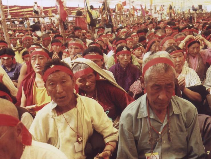 decine di migliaia di tibetani al Kalachakra di Amravati India 2006