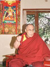 """Sua Santità il 14 ° Dalai Lama: """"La natura fondamentale del nostro corpo è molto vicina a quella della mente calma. La compassione porta ad avere la mente calma""""."""