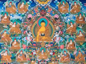 Buddha Shakyamuni coi 17 Pandita di Nalanda