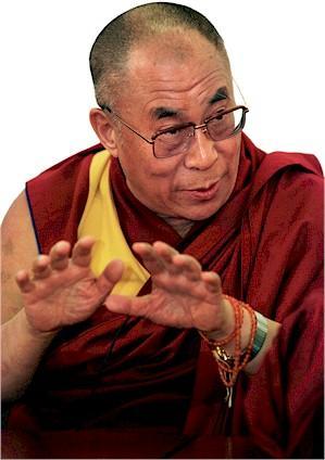 """Sua Santità il Dalai Lama: """"Fenomeni come la forma sono considerate ingannevoli, perché il loro modo di apparire ed il loro modo di esistenza non sono tra loro in accordo""""."""