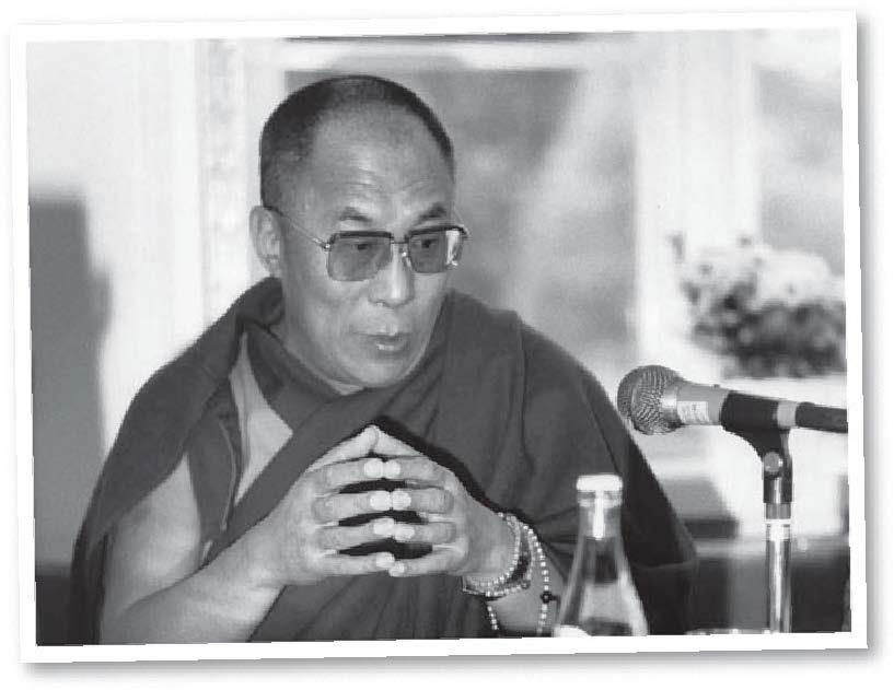 His Holiness the Dalai Lama: Usually our minds are attracted towards different objects. When this connection is cut, with more practice we'll experience a sort of vacuity, which is the gap between the mind and those objects.