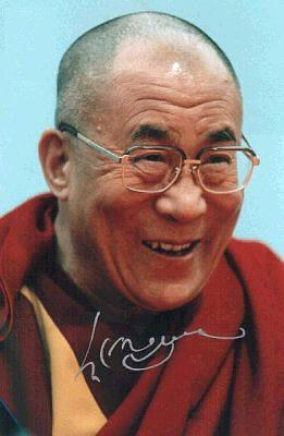 Sua Santità il Dalai Lama: la vostra sessione meditativa dovrà terminare dedicando tutta l'energia positiva che avete accumulato con la pratica alla felicità di tutti gli esseri viventi.