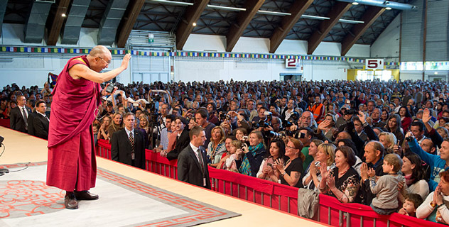 His Holiness the Dalai Lama in Klagenfurt