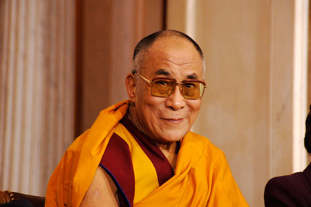 His Holiness the Dalai Lama: If ignorance is eliminated, then the contaminated actions that depend on it are stopped. .