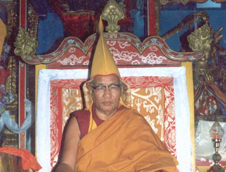 HH the 100th Ganden Tri Rinpoche, Lobsang Nyima Rinpoche